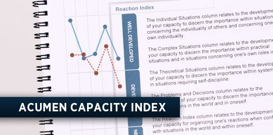ACUMEN CAPACITY INDEX in COMMUNICATION TRAINING