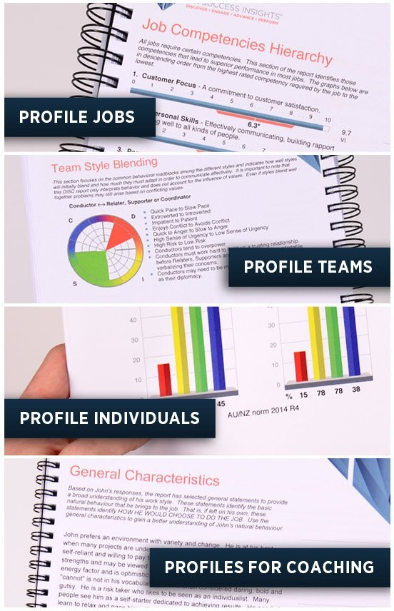 DISC Behavioural Reports for People & Jobs